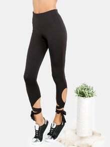 Kurze Leggings -schwarz