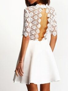Kleid mit Einschnitt - weiß