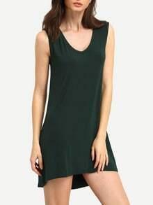 robe sans manche -vert