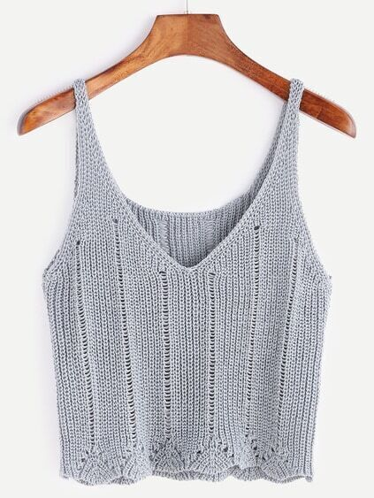 Grey V Neck Sweater Vest
