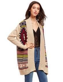 Albaricoque modelo geométrico del suéter de la rebeca
