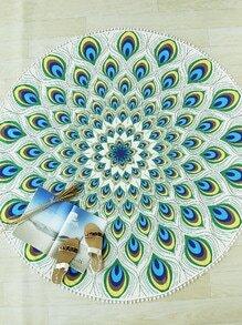 Peau de paon à imprimé plume