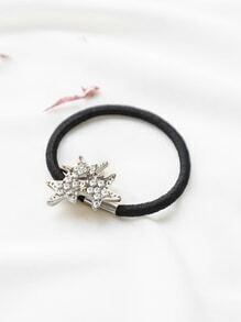 Cravate de cheveux de détail d'étoile d'argent