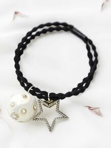 Star And Ball Design Hair Tie