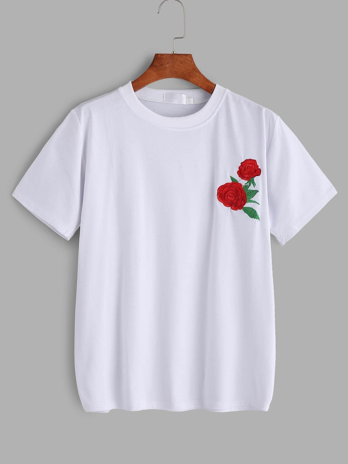 Заказать вышивку на футболку 19