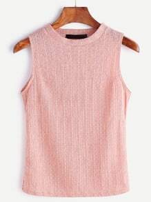 Pink Knitted Tank Top
