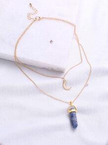Collier pendentif en or à double chaîne