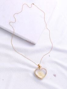 Heart Pendant Gold Chain Necklace