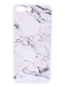 Funda para iphone 7plus con estampado de mármol - blanco