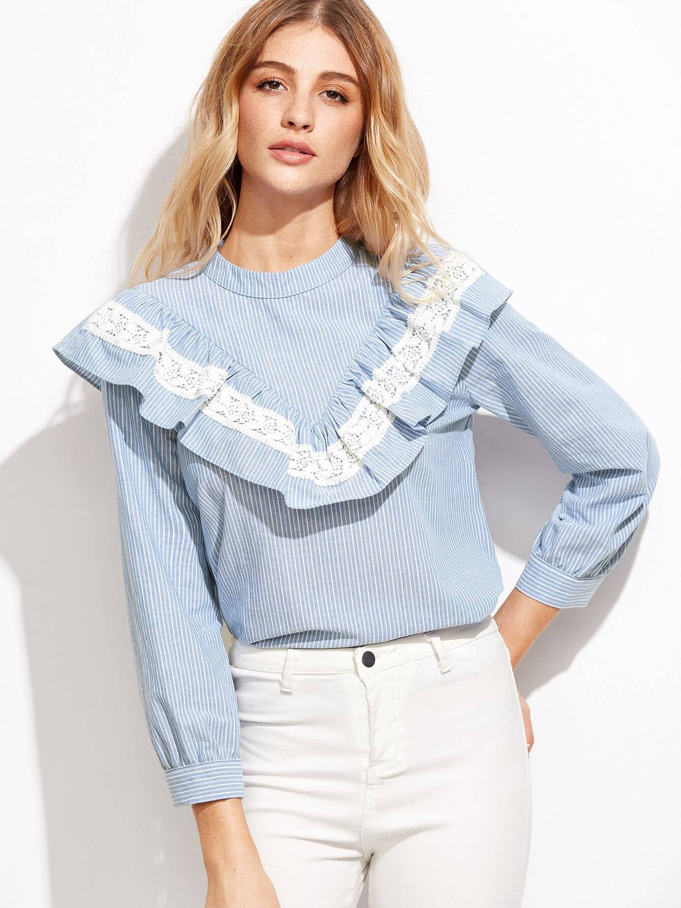 Lace and Ruffled Blouses