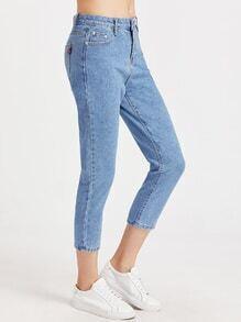 Washed jeans effet - bleu