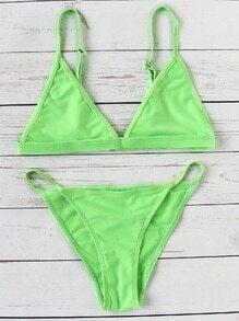 Set bikini triángulo sexy - verde