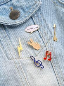 Set broche en forma de nota musical - multicolor