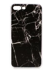 Funda para iphone 7plus con estampado de mármol - negro