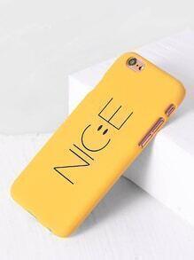 Funda para iphone 6s con estampado de letra - amarillo