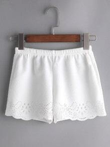 Shorts gap sous scalloping - Blanc