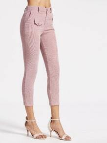 Pink Ribbed Skinny Pants