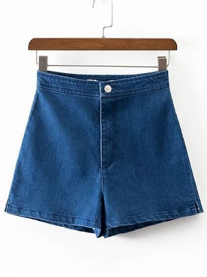 Blue Loose Denim Shorts