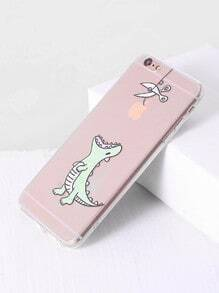 Funda para iphone 6plus/6s con estampado de dinosaurio