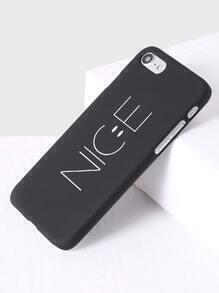 Funda para iphone 7 con estampado de letra - negro