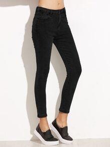 Black Skinny Ankle Jeans