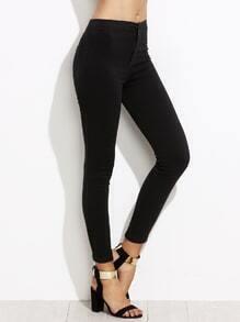 Pantalons moulants couleur unie - noir