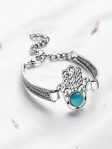 bracelet turquoise incrustation ne part antique en argent
