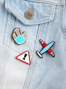 l'avion épingle l'émail multicolore