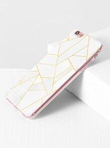 Blanco Caso del iPhone 6 del modelo geom茅trico Plus / 6s m谩s