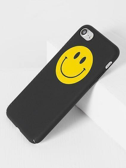 Black Smile Face iPhone 7 Case