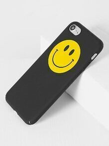 Black Smile Face iPhone 7 Case