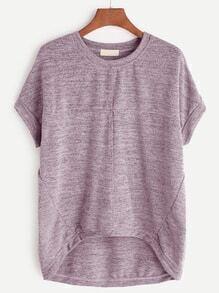 asymmetrische Hemd - Pink