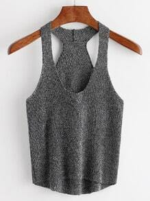 Grey High Low Tank Top