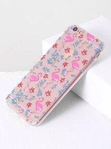 Funda para iphone 6plus con diseño de flamingo