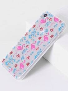 Funda para iphone 7 con diseño de flamingo
