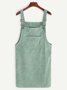 Vestido de pana con bolsillos - verde