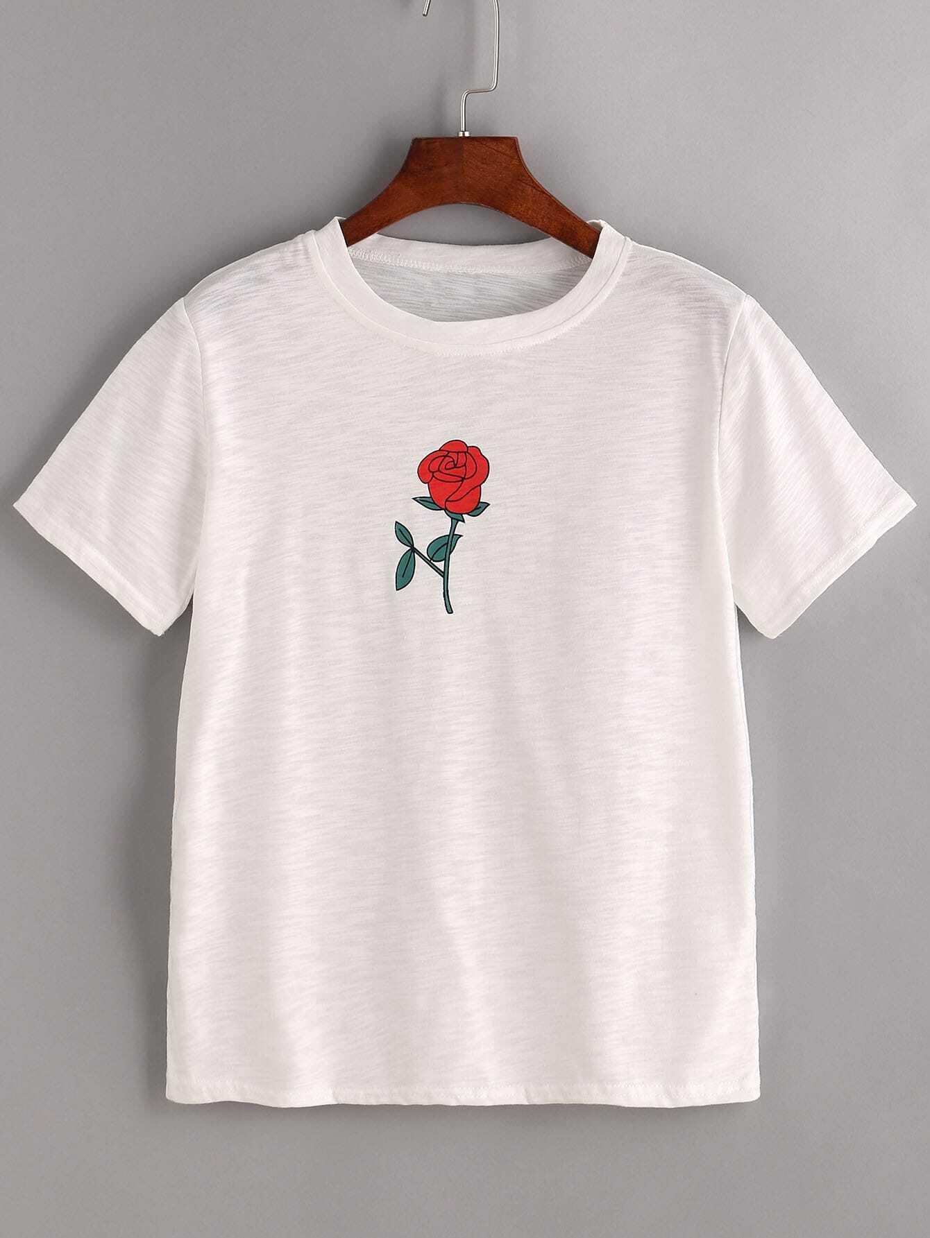 imprimer chemise rose blanc french romwe. Black Bedroom Furniture Sets. Home Design Ideas