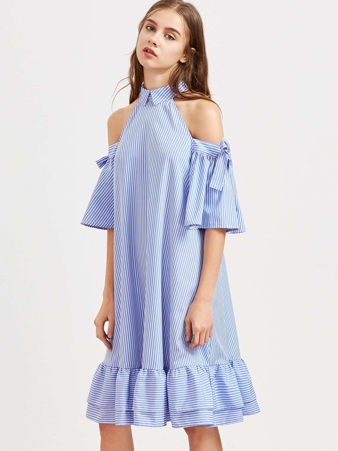robe rayee avec nu manches en dentelle epaule avec lisere With robe epaule nu