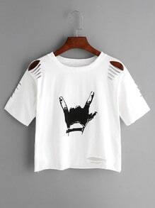 Cassé-print chemise geste d'amour - blanc