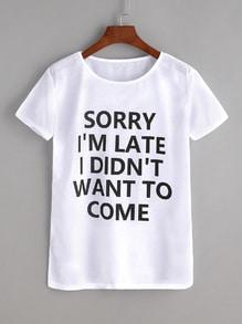 T-shirt imprimé phrase - blanc