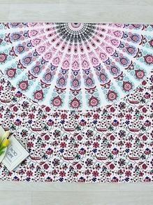 Manta playera con estampado floral