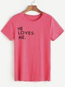 Camiseta de la impresión de la letra de las rosas t-shirts