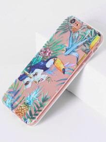 Funda para iphone6/6s con estampado de cálao tropical