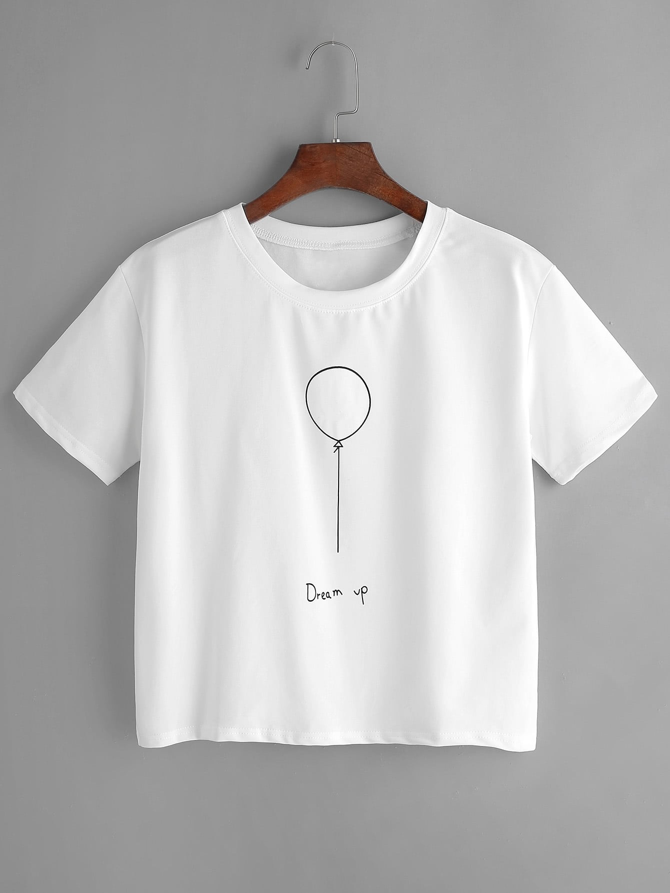 imprimer globe t shirt blanc french romwe. Black Bedroom Furniture Sets. Home Design Ideas