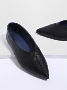 Black Point Toe PU Flats