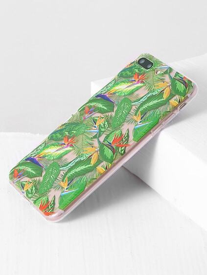 Green Leaf Print iPhone 7 Plus Case