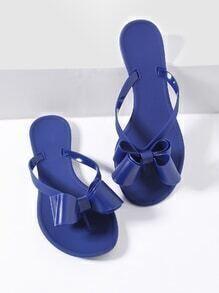 blue arc embelli toe post - flat sandales