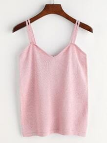 Pink Knitted Cami Top