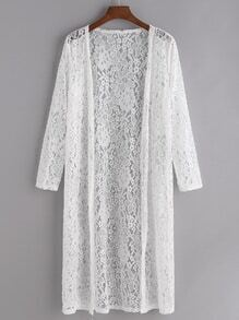 Häkelspitzen Kimono - Weiss