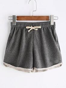 Tunnelzug Shorts - grau
